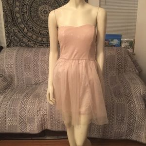 Agaci Pale Pink Semi Formal Gown Dress Large